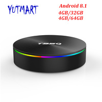 T95Q Smart TV Box Android 8.1 4GB 32GB / 64GB Amlogic S905X2 Set Top BOX 2.4G 5G Dual WIFI USB 3.0 HDR H.265 4K Media Player Box