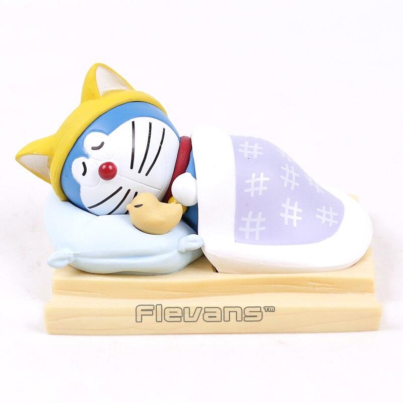 Doraemon Mobile Phone Holder Sleeping Doraemon Car Home Decoration Doll PVC Figure Model Toy