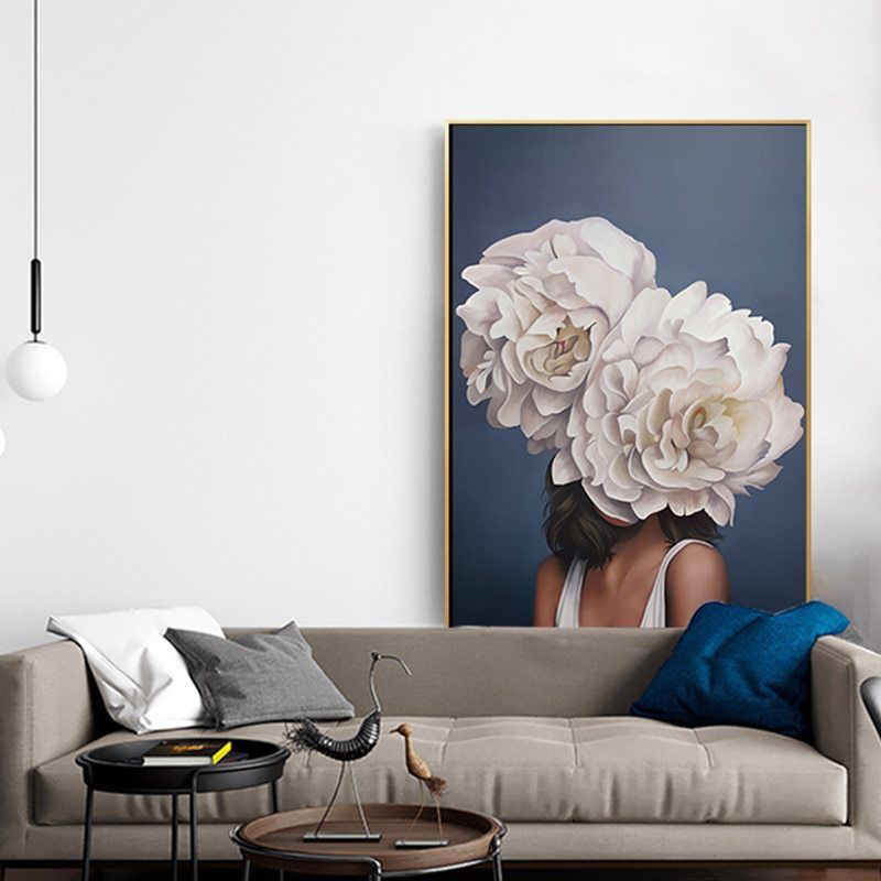 Flowers-Girls-Wall-Art-Canvas-Painting-Nordic-Poster-Picture-Posters-And-Prints-Wall-Pictures-Living-Room