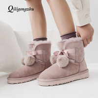 Women Boots non slip Waterproof Winter Ankle Snow Boots Warm Wool Fur Female Winter Shoes Botas Mujer Booties Woman plus Size