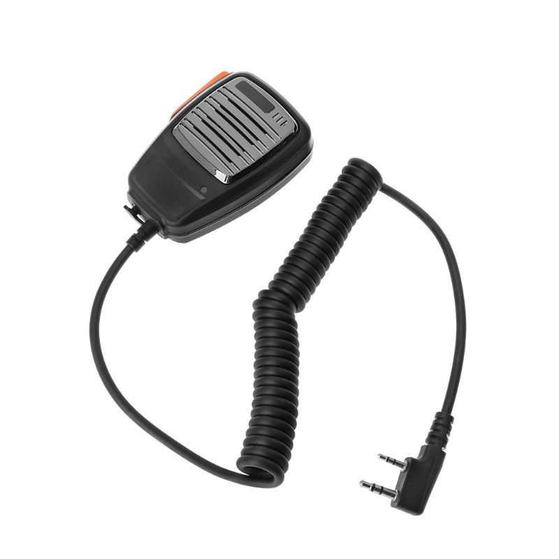 2 Pin PTT Handheld Speaker Mic Microphone For Baofeng Kenwood TYT Radio Device