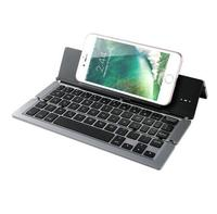 Foldable Aluminum Alloy Wireless Bluetooth Keyboard Matel Smartphone Stand For Tablet Iphone 6 7 Plus Huawei