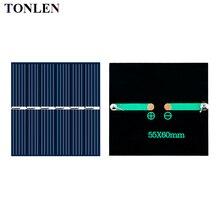 10pcs TONLEN solar panel 3V solares cell diy battery charger for mobile Epoxy 60 55mm 3V