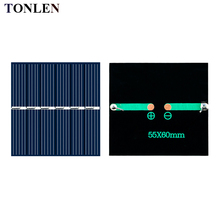 10pcs TONLEN solar panel 3V solares cell diy battery charger for mobile Epoxy 60*55mm 3V 150mA Solar DIY Toy Solar Sunpower Kit