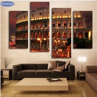 Diamond Embroidery 5D DIY Diamond Painting Famous Rome Architecture Diamond Painting 4 Pieces Cross Stitch Rhinestone
