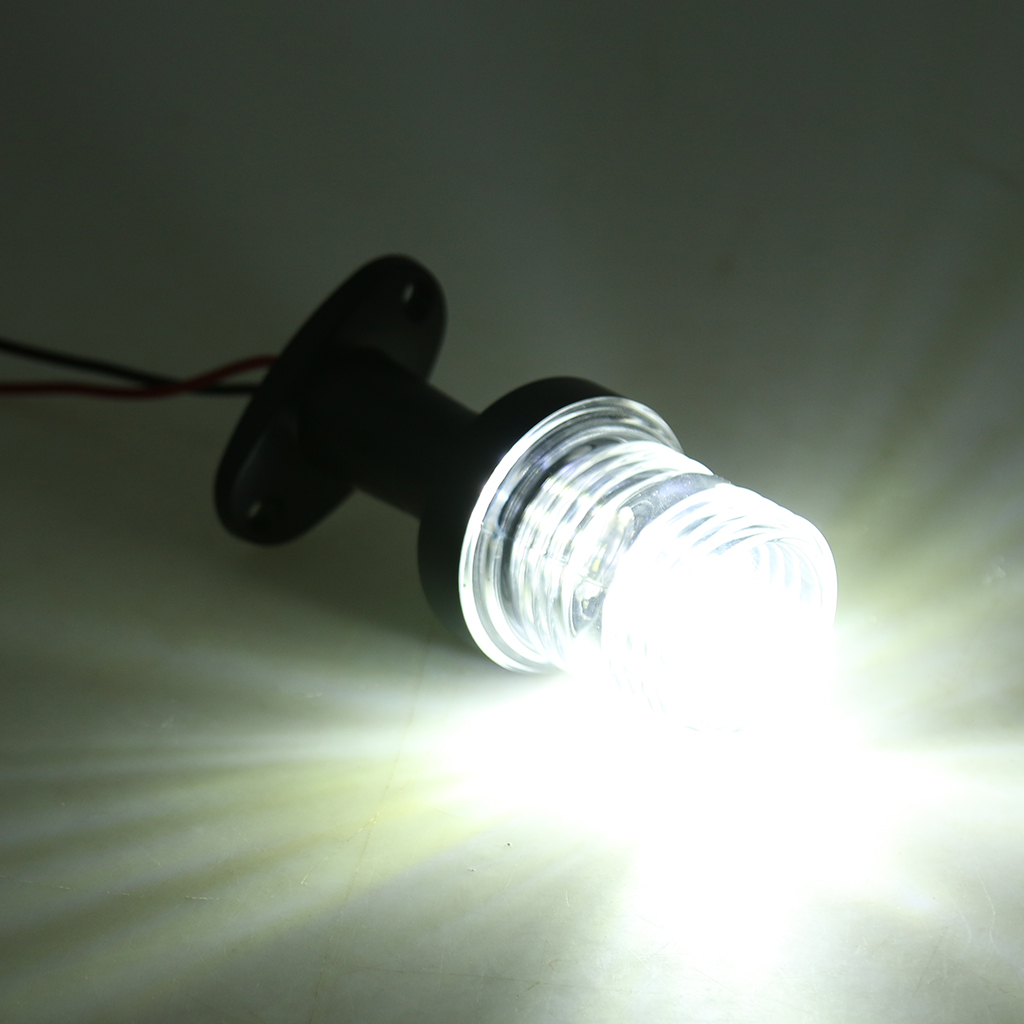 Marine Boat Yacht All Round 360 Degree White LED Anchor Navigation Light Sailing Signal Light 12V DC Vehicle Accessories