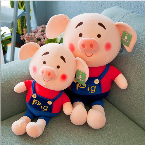 WYZHY Creative pig small fart doll plush toy doll sofa bedside ornaments to send friends and children gifts 90CM