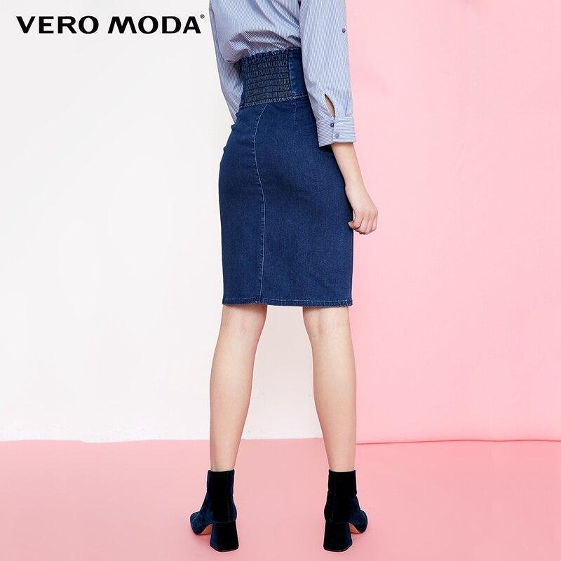 Vero Moda girdle slit hem High Waist Pencil Slim fit Skirt |318237506
