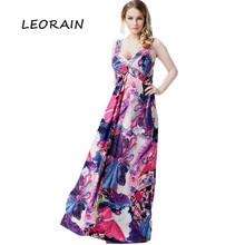 Plus Size Women Clothing 6xl 2017 New Sexy V neck Beach Ice Silk Maxi Summer Dress