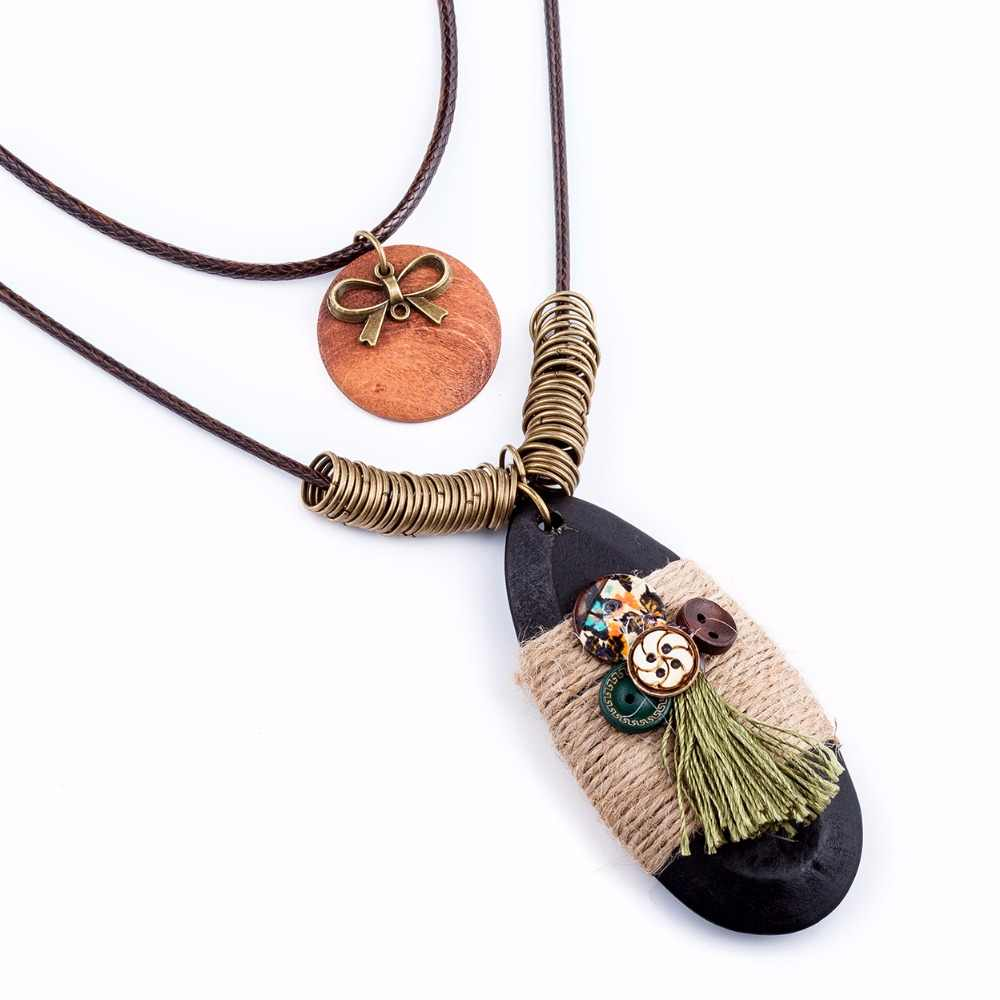 Moda boho jóias presentes gargantilha inicial longa corrente gótico personalizado statement vintgae pingente personalizado colar para mulher