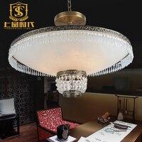 新しい銅大理石天井ランプk9クリスタルライト