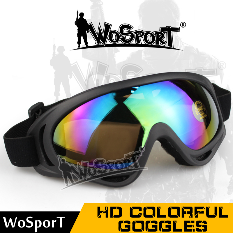 WoSporT Tactical Military UV Protection Anti-sandstorm & Collision Goggle Paintball Eye Protection Airsoft CS Glasses