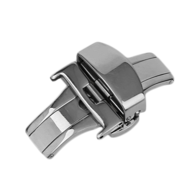 GENBOLI 18/20/22MM Stainless Steel Watch Buckle Durable Double Folding Butterfly Deployment Clasp Watches Faces Accessories 2017 | Watchbands