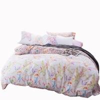 100 Soft Cotton Duvet Cover Set Colorful Leaves Printed Bedding Set Kids Bedding Pillowcase Quilt Cover