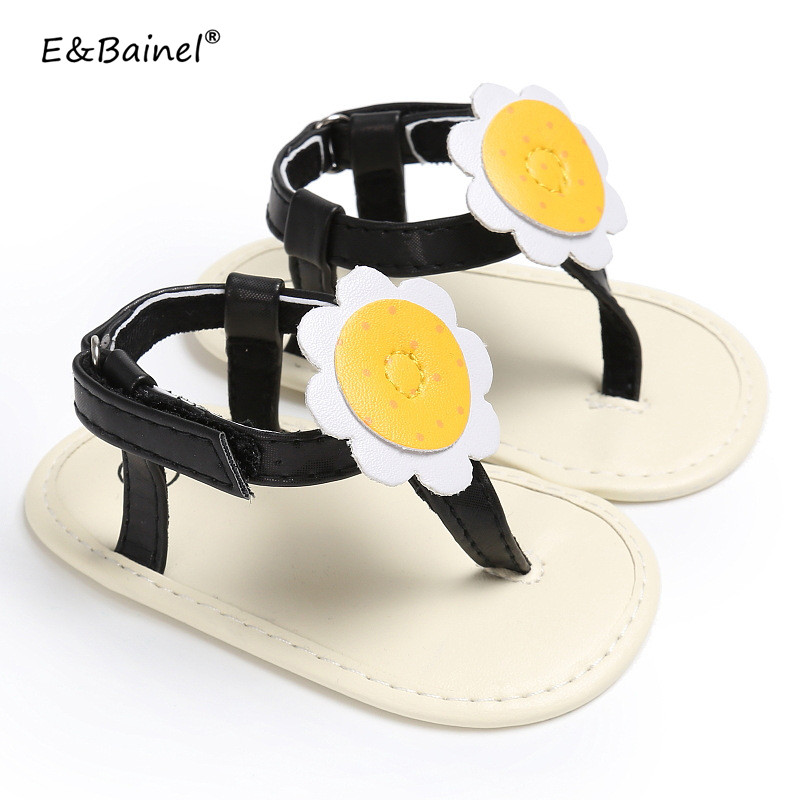 Infant Summer Newborn Baby Shoes For Girls Sunflower Design 3 Colors Toddler Girl Soft Soled First Walkers 0-18M Baby Moccasins