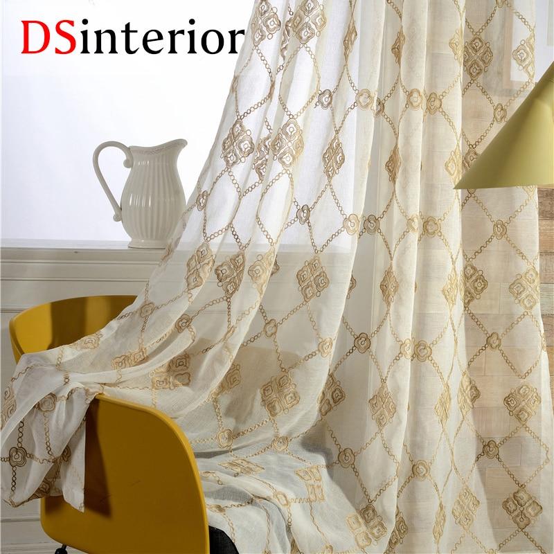 DSinterio vez za zavese Prozirne zavjese za prozor spavaće sobe u - Tekstil za kućanstvo