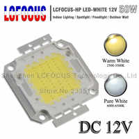 DC 12V High Power LED COB Chip 1W 3W 5W 10W 20W 30W 50W 100W SMD Diode Light Cold Warm White For 1 3 5 10 50 100 W Watt LED