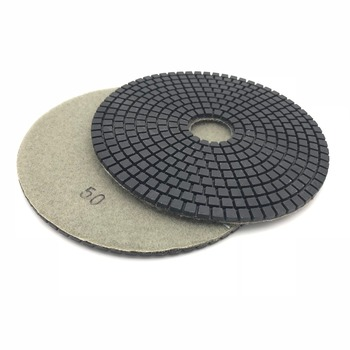 2 pieces 150mm 6 inch wet diamond  grinding polishing pad for For Granite Concrete Marble Polish