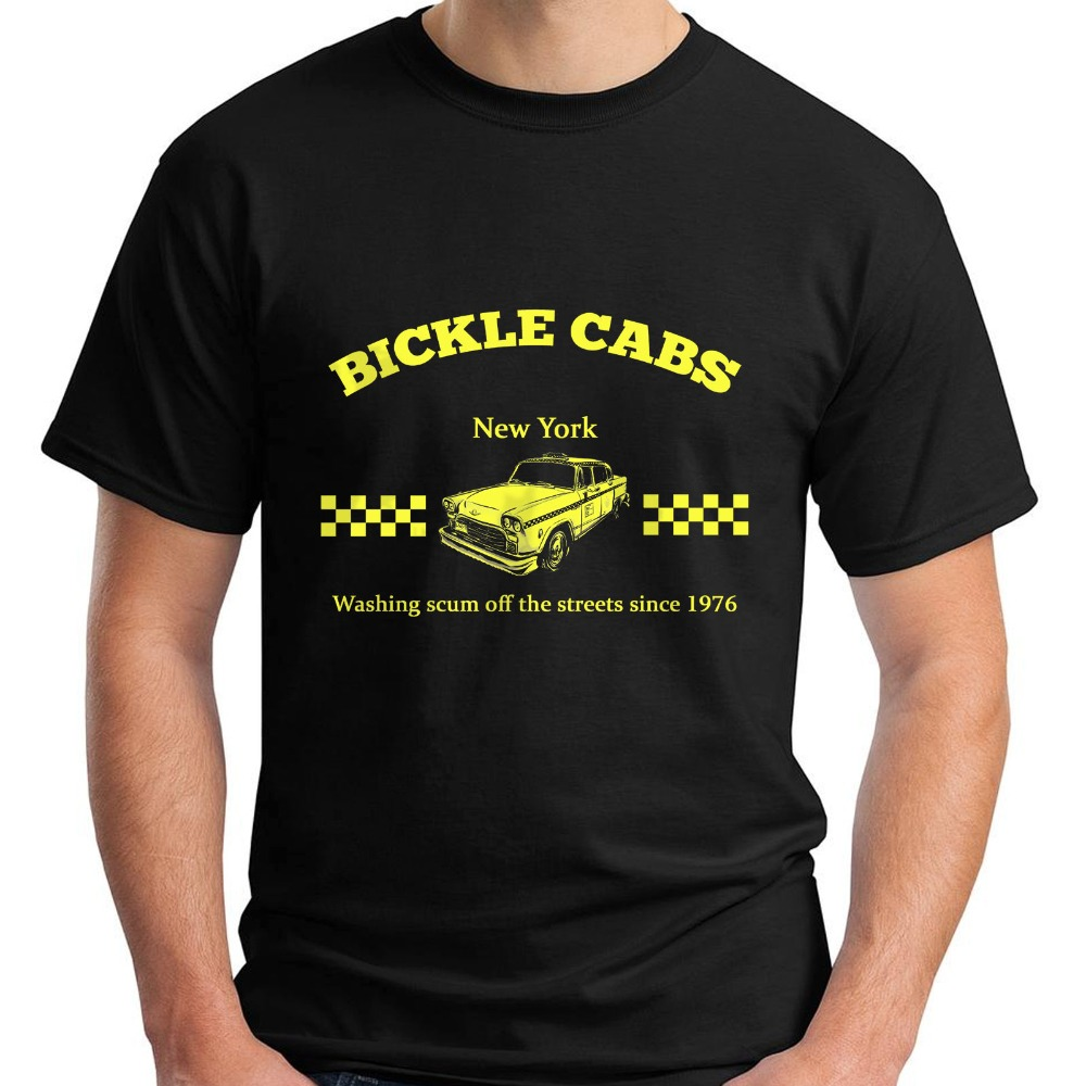 Newest 2018 Bickle Cabs T Shirt Inspired by Taxi Driver Cult 70s Movie T-Shirt Size S-5XL Printed T Shirts Mens Streetwear