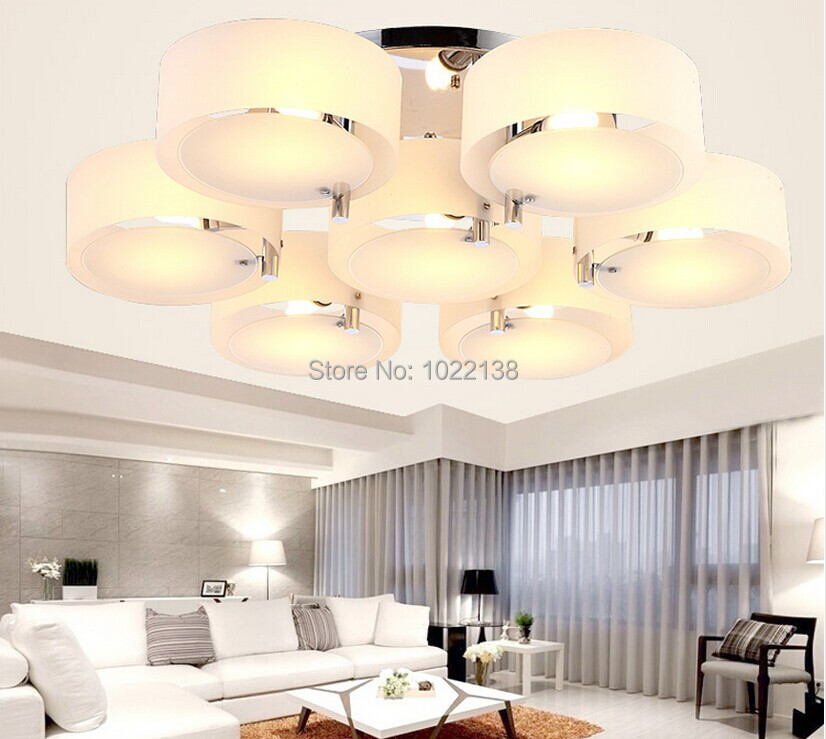 Acryl LED ceiling light modern brief living room light bedroom lamp restaurant kitchen lamps round lamp remote switch free ship фонарик cree xml t6 18650 super light