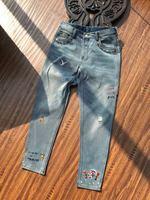WLD0784 Fantastic Men's Jeans 2018 Runway Luxury Brands European Design Simple Style Men's Fashion