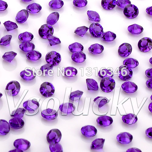 Festive & Party Supplies Hearty Diamond Confetti Purple 10000 Pcs/bag 4.5mm 1/3carat Crystal Wedding Table Scatter Decoration Bridal Shower Wedding Party