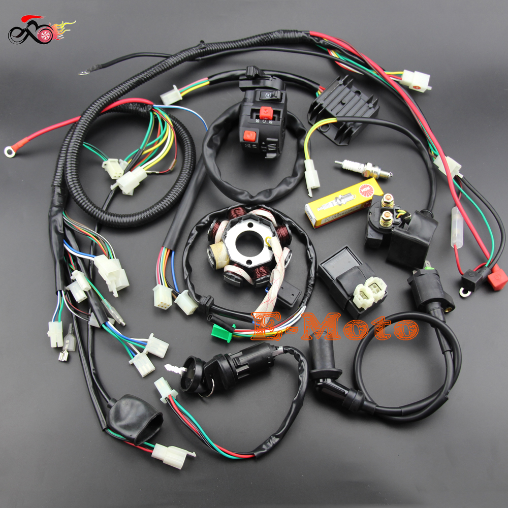 compare prices on atv spark plug wires online shopping buy low buggy wiring harness loom gy6 engine 125 150cc quad atv electric start stator 8 coil ngk