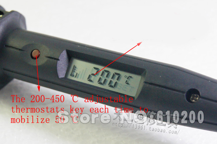 WIT 808 100W Adjustable thermostat Electric Soldering Iron Lead-free Welding Tool 220V Digital LCD цена
