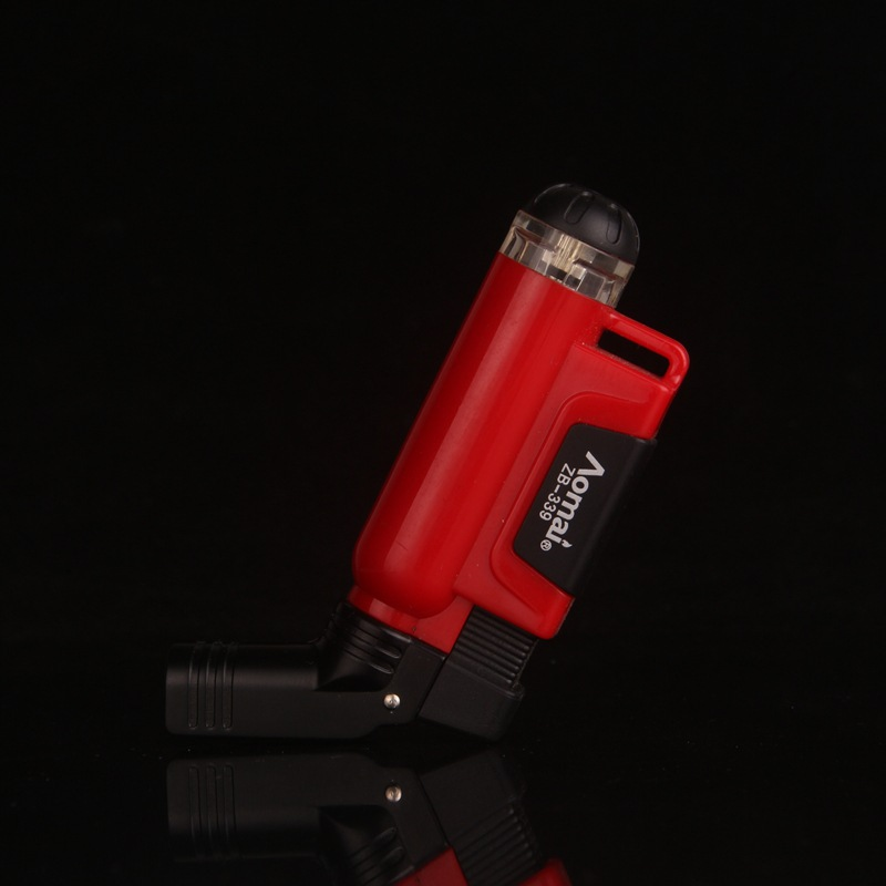 Image 5 - 2018 New Compact Jet Butane Cigar Torch Turbo Lighter Gas Cigarette 1300 C Fire Windproof Lighter No Gas-in Matches from Home & Garden