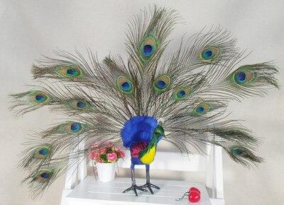 Simulation mignon paon coloré 53x13x10 cm modèle polyéthylène & fourrures oiseau modèle accessoires de décoration de la maison, modèle cadeau d690