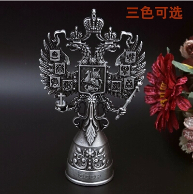Creative birthday gift vintage Russia style tin alloy vertical double headed eagle bottle opener Tool bar