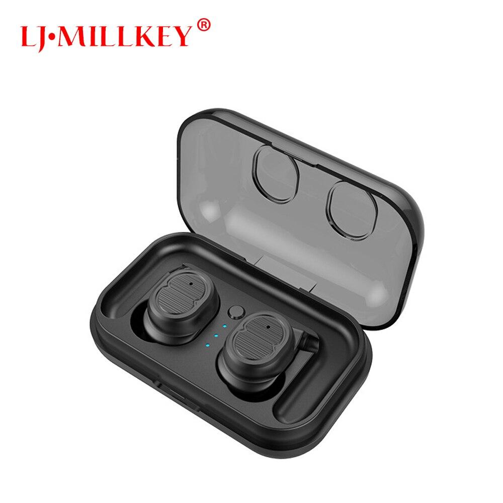 2018 New Bluetooth V5.0 TWS Earphone True Wireless Stereo Earbud Waterproof Bluetooth Headset for Phone LJ-MILLKEY YZ206 цена
