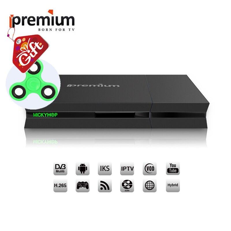 Arabe IPTV Boîte Ipremium i9 DVB T2 AVOV Boîte de Télévision Intelligente DVB-S2/T2/C Boîte de TÉLÉVISION Android Combo récepteur satellite version Sud-américaine