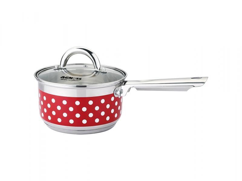 Ladle AGNESS, Polka Dot, 1,9 L, steel/Red polka dot plus size surplice swing dress