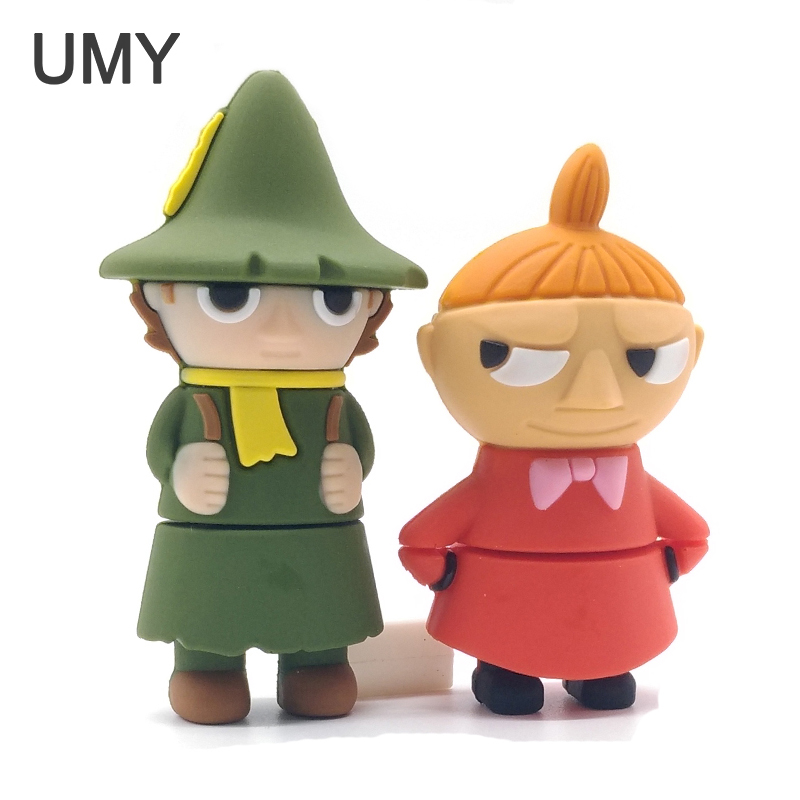 Pen drive 64GB 32GB 16GB 8GB 4GB cartoon Moomin Valley memory stick u disk lovely Little My/Snufkin usb flash drive pendrive cle 6 style cartoon usb flash drive pen drive super hero 128gb 64gb 32gb 16gb 8gb 4gb usb2 0 pendrive batman silicone usb stick gift