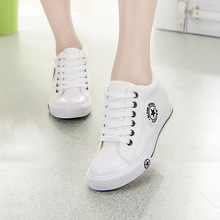 Summer Style Sneakers Wedges Canvas Shoes Women Casual Lace Up Shoes Stars Zapatos Mujer Trainers 5 Cm Increase Height