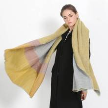 Brand Shawls And Scarves Wrap Women Winter Long Thick Pashmina Striped font b Tartan b font