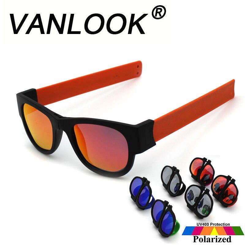 Braccialetto schiaffo Occhiali Da Sole Polarizzati Specchio Donne Slappable Occhiali Da Sole per Gli Uomini Wristband Fold Shades Oculos Moda Colorata