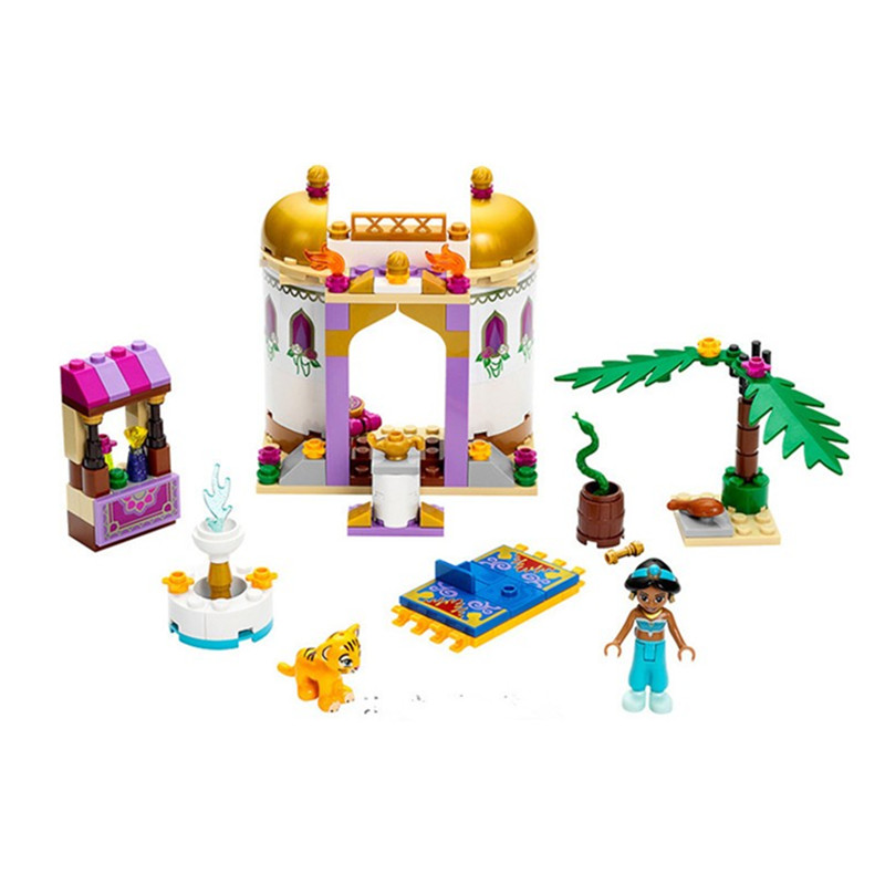 10434 Dream Sleeping Girl Series Aladdin Princess Jasmine Bricks Figures Building Block Toys Compatible with Legoe