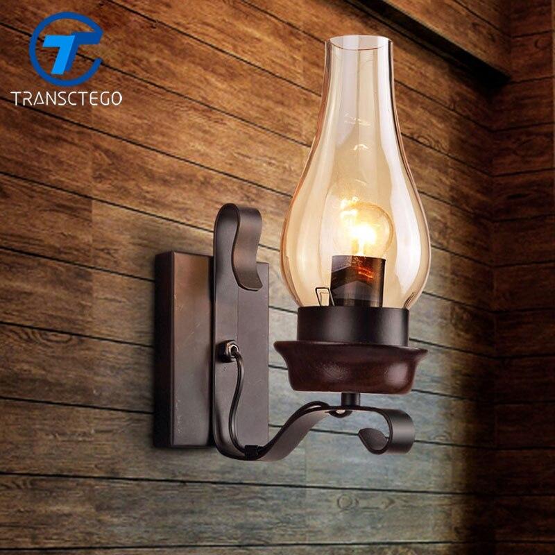 Ретро Бра индустриальный Лофт персонализированные ресторан гладить прохода Настенные светильники