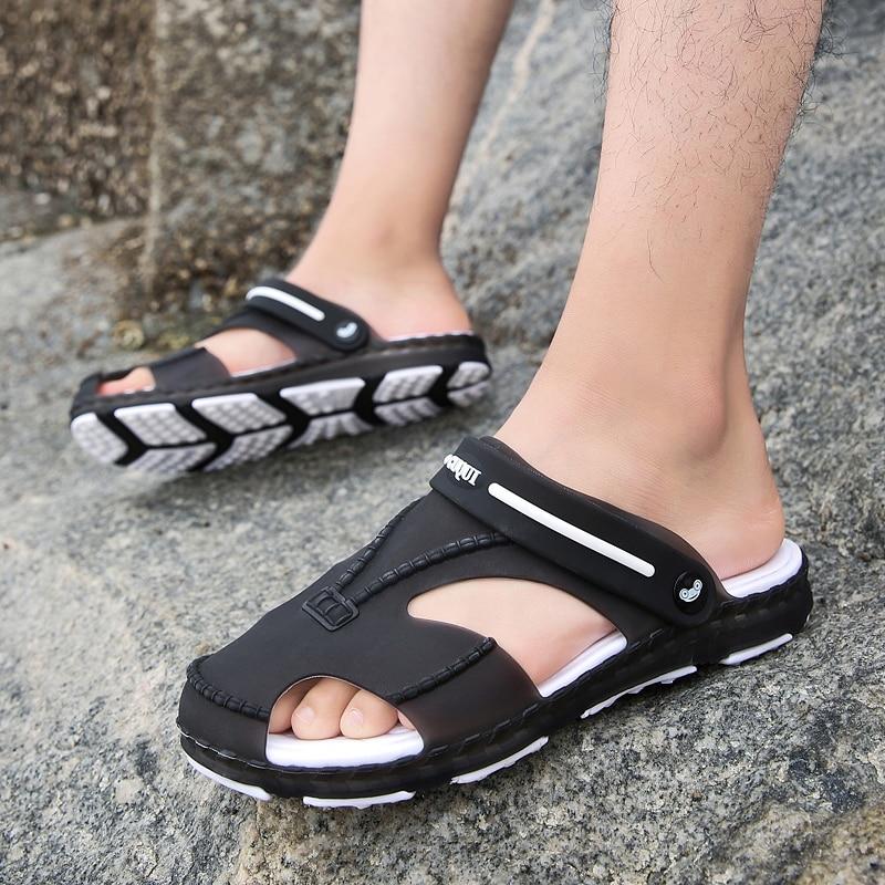 Yoylap Для мужчин слипоны Дачная обувь легкие пляжные сандалии для Для мужчин Повседневное воды тапочки сандалии унисекс Buty Meskie Calcados