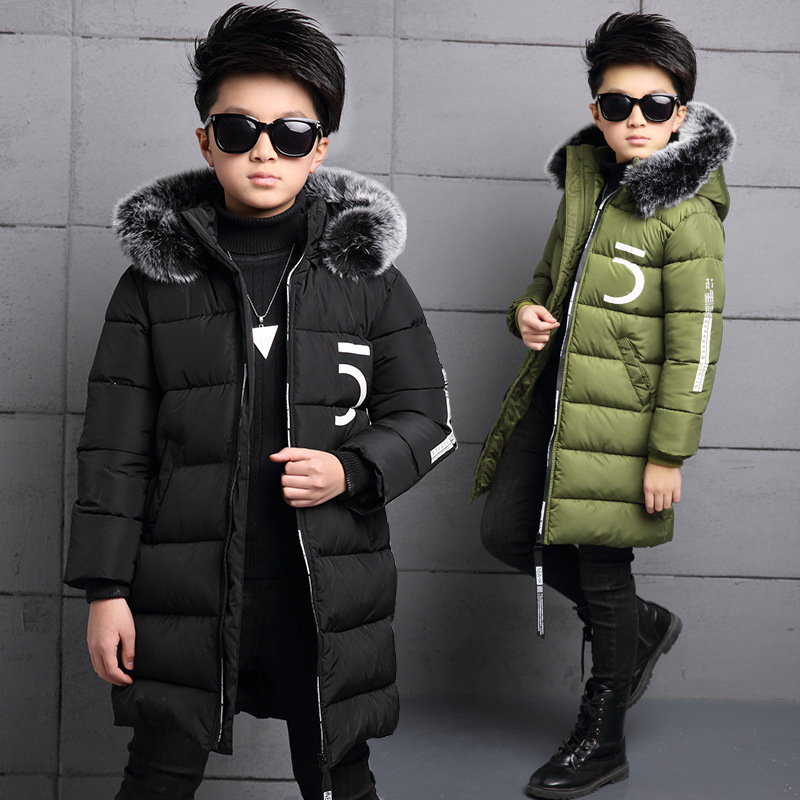 Kids Winter Jackets For Boys 4 5 6 7 8 9 10 11 Years Thickening Cotton Down Coat Kids Warm Parkas Warm Children Clothing 8 10 11