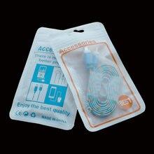200 шт/партия 8x14 см USB линия передачи данных пластиковая молния Розничная упаковка сумка для iphone 6s плюс кабели упаковочные сумки