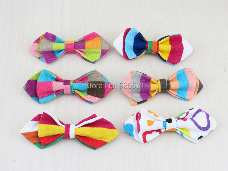 (10 pcs/lot) Baby bowtie/30 kinds of colors are optional/Linen fabric Safety pin desgin/latest child bowknot bow