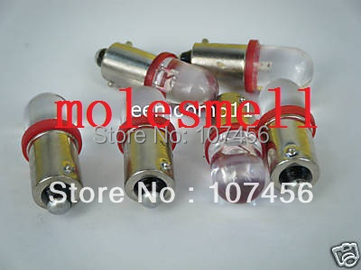 Free shipping 50pcs T10 T11 BA9S T4W 1895 6V red Led Bulb Light for Lionel flyer Marx