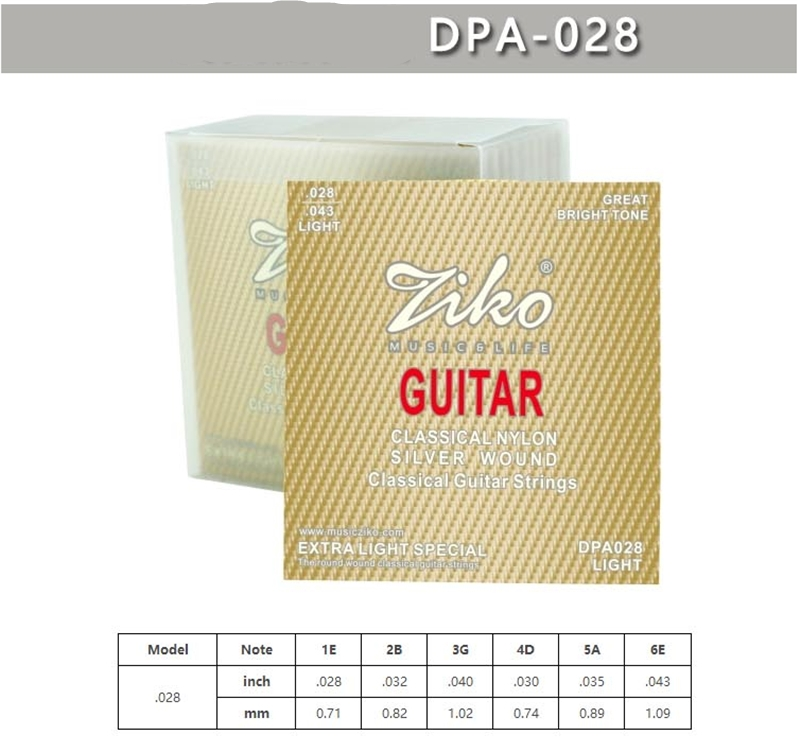Ziko Classical Guitar Strings set Classical Nylone Silver Wound Classical Guitar String 6strings/set savarez 510 cantiga series alliance cantiga ht classical guitar strings full set 510aj
