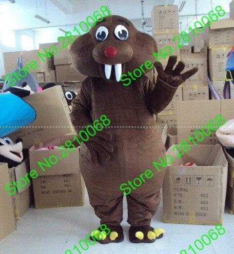 Dashing Eva Material Helmet Luxury Plush Simulation Fur Storm Rat Mascot Costumes Movie Props Show Walking Cartoon Apparel Cosplay 178