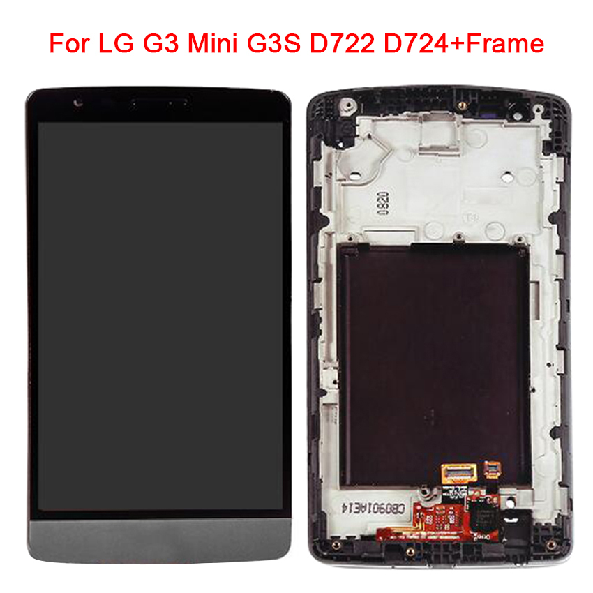 For LG G3 Mini D722 D724 D725 D728 D729 IS660 LCD Display Touch Screen Digitizer Full Assembly Replacement PartsFor LG G3 Mini D722 D724 D725 D728 D729 IS660 LCD Display Touch Screen Digitizer Full Assembly Replacement Parts