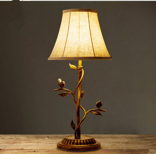 North American country European style of the ancient iron living room lamp bedroom bedside study lamps decorative table lamps. american study desk lamp of bedroom the head of a bed european style living room hh creative fashion retro robot reading lamp