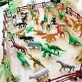 68 шт./компл. Моделирования Зоопарк Пластиковые Мини Животных Модель Игрушки Для Детей Динозавров тигр лошадь DIY Развивающие Игрушки